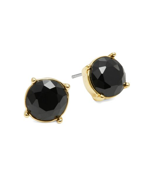 Trina Turk | Black Faceted Stud Earrings | Lyst