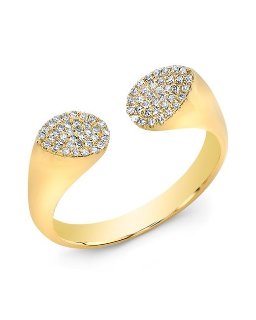 Anne Sisteron | Metallic 14kt Yellow Gold Diamond Open Double Pear Ring | Lyst