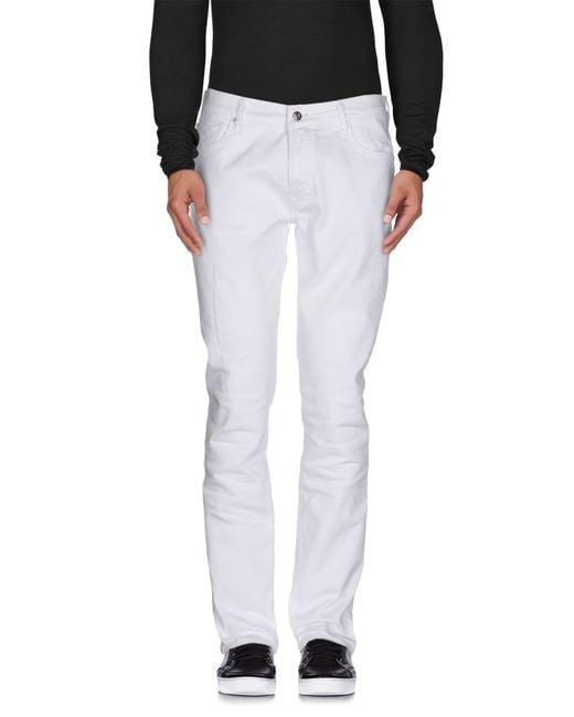 HTC | White Denim Trousers for Men | Lyst