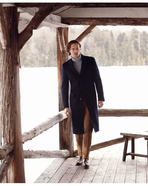 Brooks Brothers   Blue Golden Fleece® Brooksstorm® Westbury Cashmere Overcoat for Men   Lyst