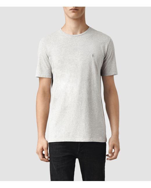 AllSaints | Gray Brace Tonic Crew T-shirt Usa Usa for Men | Lyst