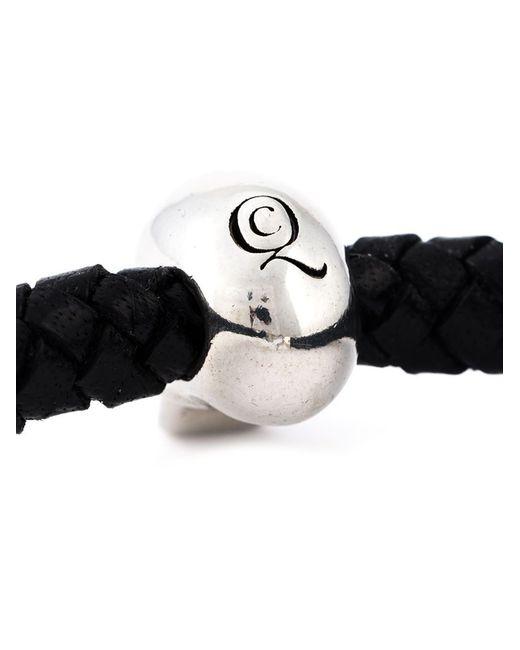 Alexander McQueen   Black Woven Skull Bracelet for Men   Lyst