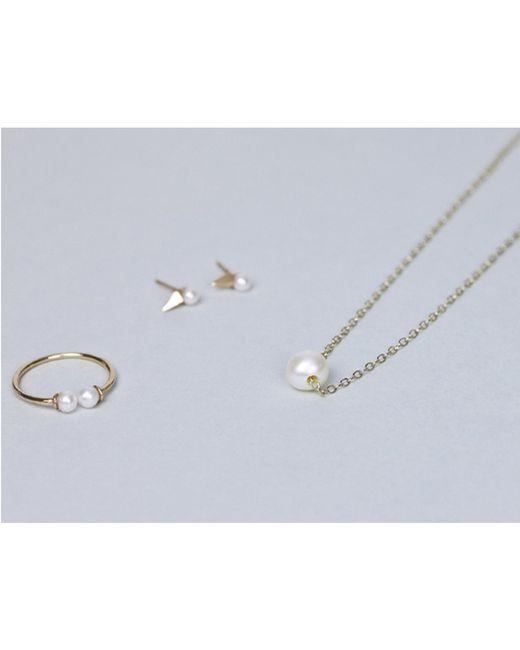 Loren Stewart | White Double Pearl Ring | Lyst