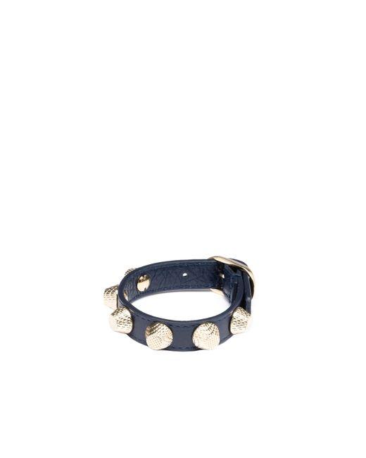 Balenciaga | Blue Giant Gold Bracelet Stud | Lyst