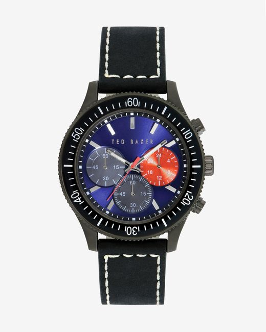 Ted Baker | Black Chronograph Watch for Men | Lyst