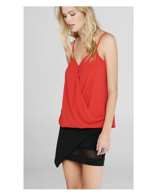 Express | Red Surplice Cami | Lyst