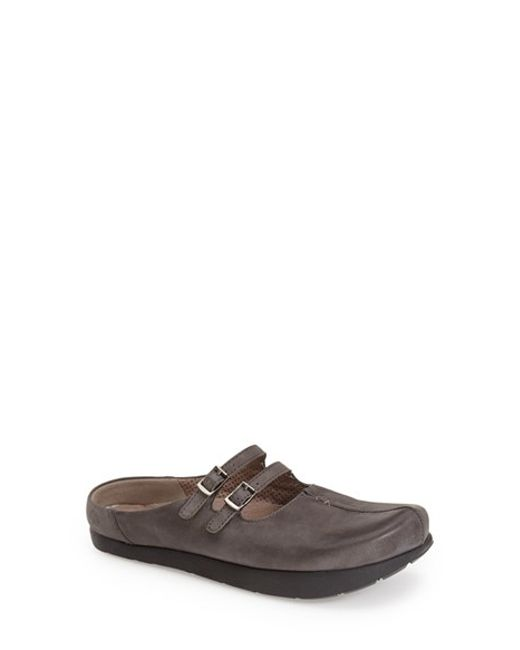 Kalso Earth | Gray Kharma Leather Mules | Lyst
