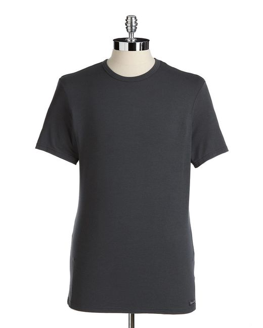 Calvin Klein | Gray Crewneck T-shirt for Men | Lyst