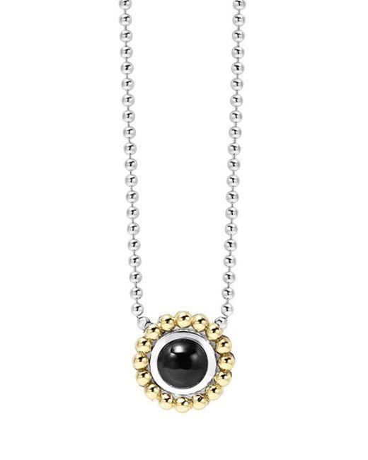 Lagos | Black Stone Pendant Necklace | Lyst