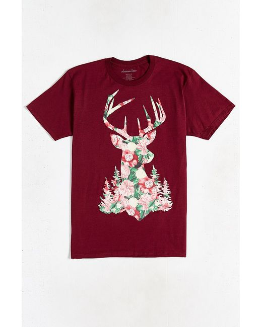Urban Outfitters   Purple Stag Floral Tee for Men   Lyst