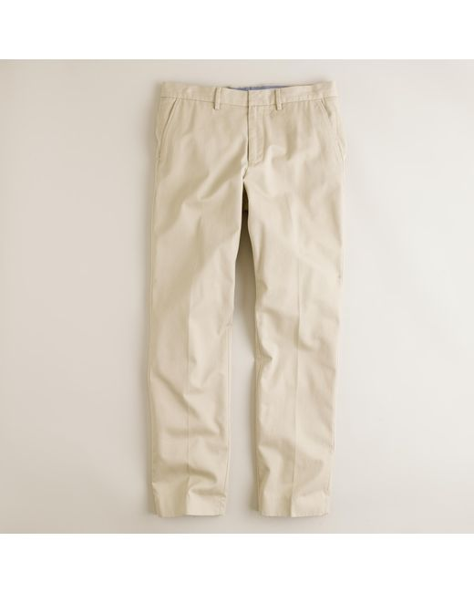 J.Crew | Natural Bowery Slim Pant In Cotton Twill for Men | Lyst