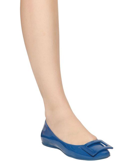 Roger Vivier | Blue Gommette Ballerinas | Lyst
