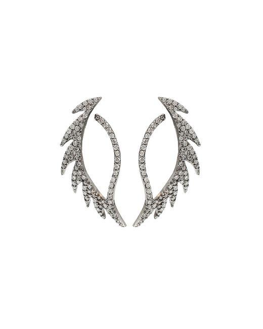 Colette | White Diamond Pattern Earrings | Lyst