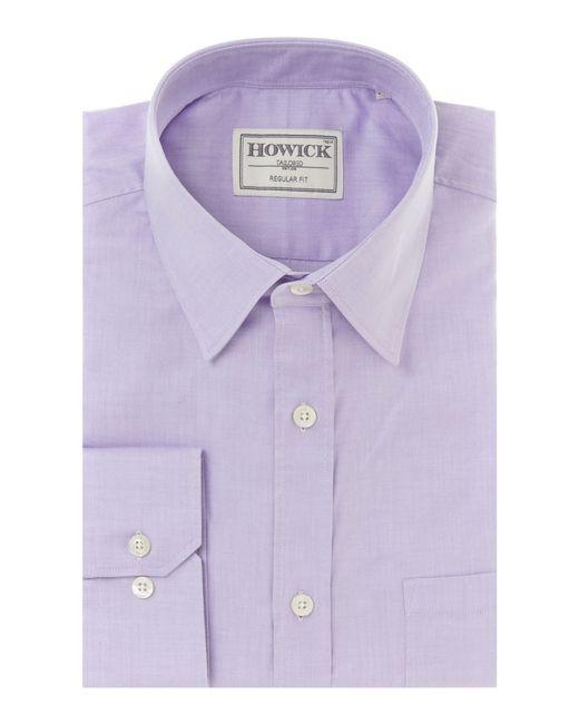 Howick | Purple Egyptian Cotton Regular Fit Shirt for Men | Lyst