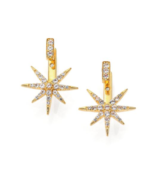Elizabeth and James | Metallic Astral Pave White Topaz Ear Jacket & Stud Earrings Set | Lyst