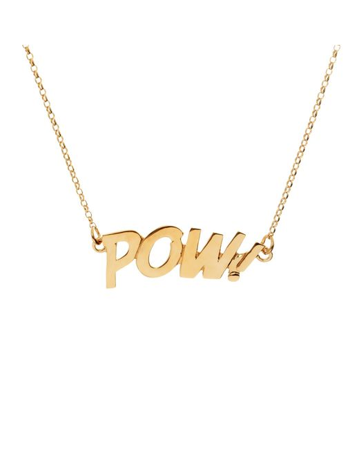 Edge Only | Metallic Pow Letters Necklace Large In Gold | Lyst