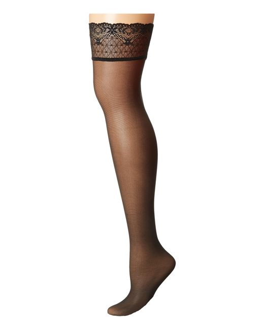 Falke | Black Seidenglatt 15 Stocking | Lyst