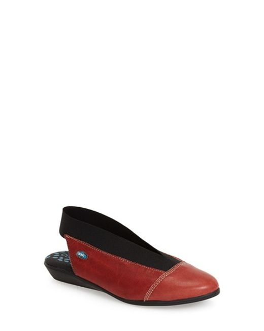 Cloud | Red 'Calico' Slingback Flat | Lyst