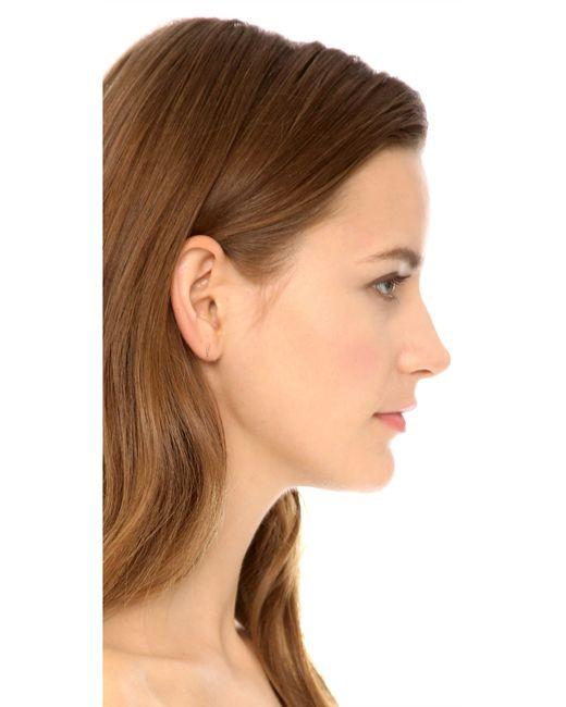 Kristen Elspeth | Metallic Hammered Bar Stud Earrings | Lyst