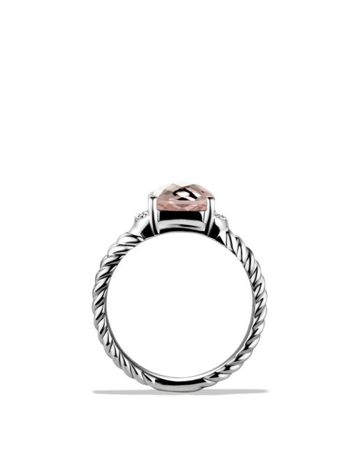 David Yurman | Metallic Petite Wheaton® Ring With Morganite And Diamonds | Lyst