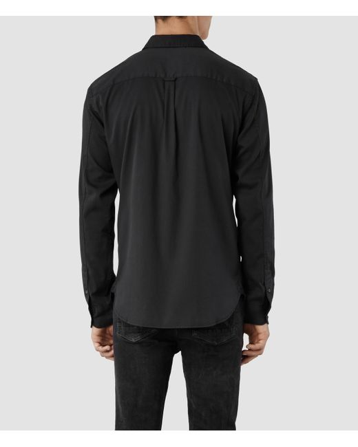 AllSaints | Black Redondo Shirt Usa Usa for Men | Lyst