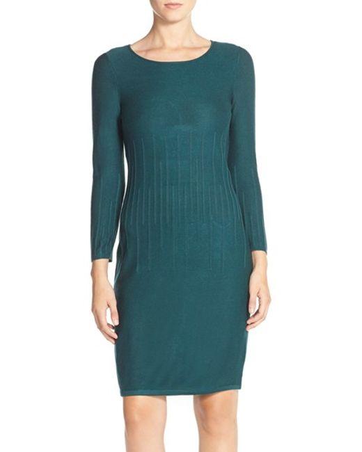 Marc New York | Red Sheath Sweater Dress | Lyst