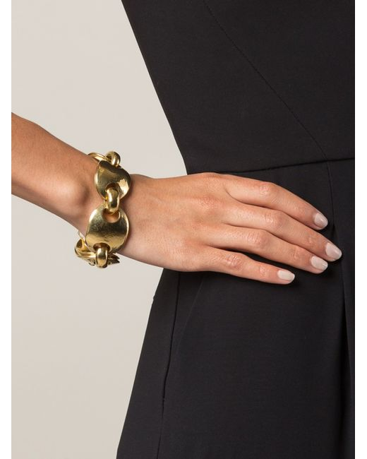 Vaubel | Metallic Curved Oval Link Bracelet | Lyst