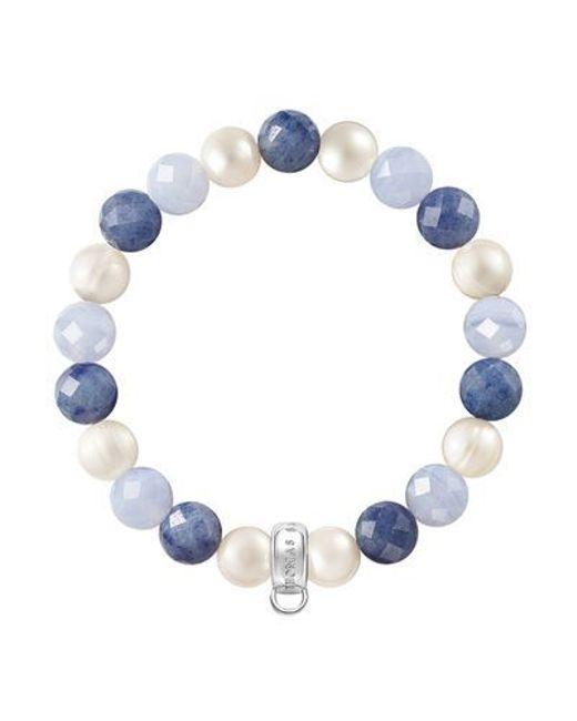 Thomas Sabo | Multicolor Charm Club Blue Mix Stone Bracelet | Lyst