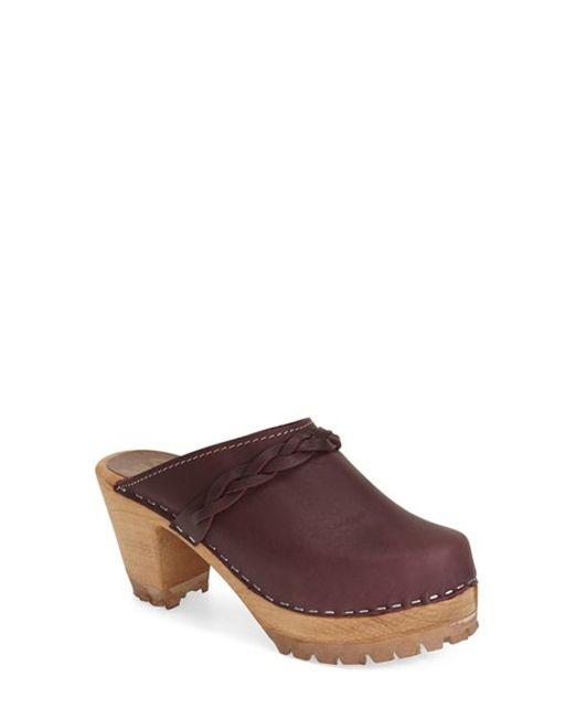 MIA | Purple Elsa Leather Clogs | Lyst