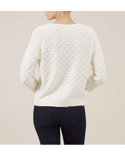Hobbs   White Carmen Sweater   Lyst
