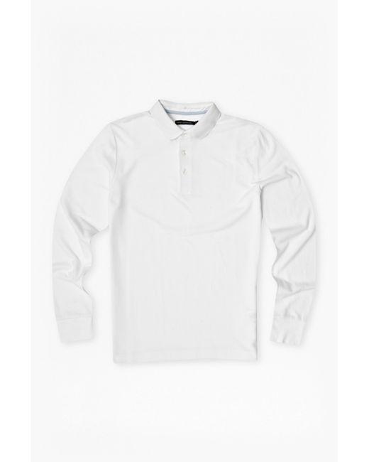 French Connection   White Brunswick Plain Marlon Polo Shirt for Men   Lyst