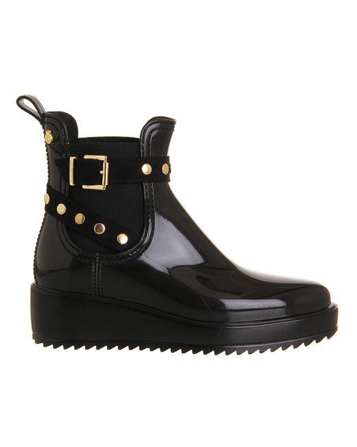 lemon jelly vix wedge buckle boots in black lyst