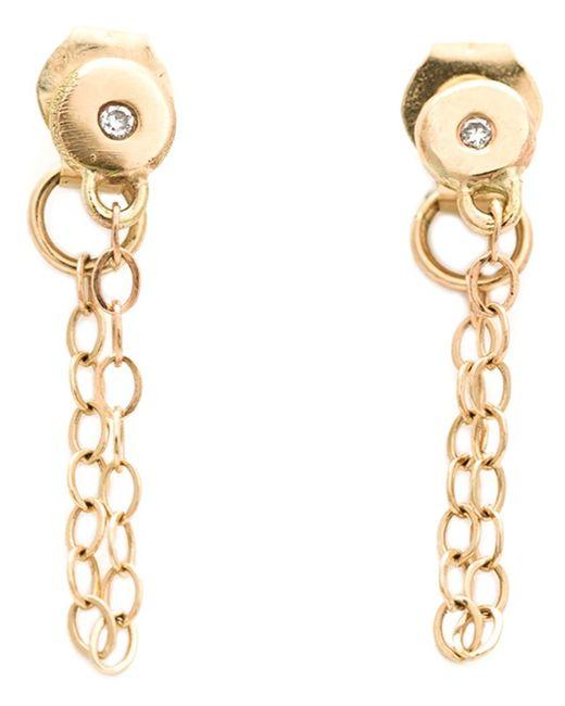 Melissa Joy Manning | Metallic Chain-wrap Diamond Post Earrings | Lyst