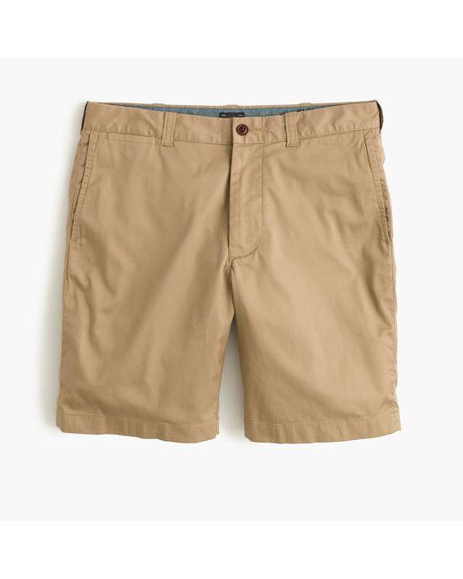 "J.Crew | Natural 9"" Stretch Short for Men | Lyst"