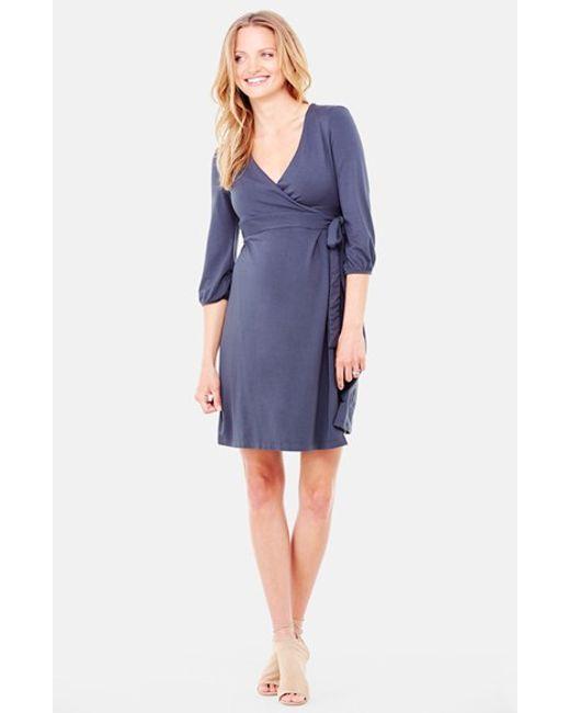 Ingrid & Isabel | Blue Ingrid & Isabel Nursing Friendly Maternity Wrap Dress | Lyst