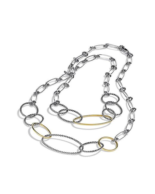 David Yurman | Metallic Mobile Link Necklace With 18k Gold | Lyst