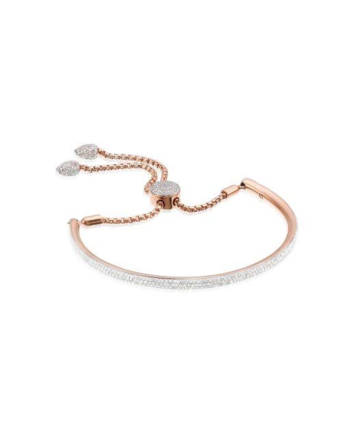 Monica Vinader | Pink Fiji Full Diamond Bracelet | Lyst