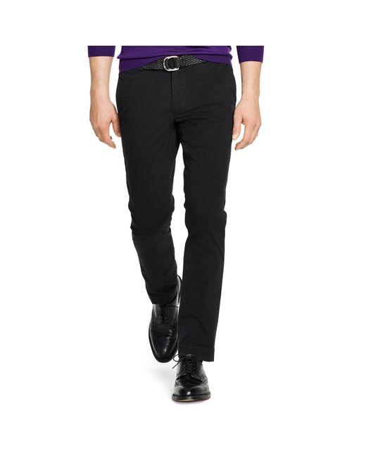 Polo Ralph Lauren | Black Stretch Slim Fit Chino for Men | Lyst