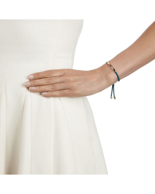 Monica Vinader   Blue Linear Friendship Bracelet   Lyst