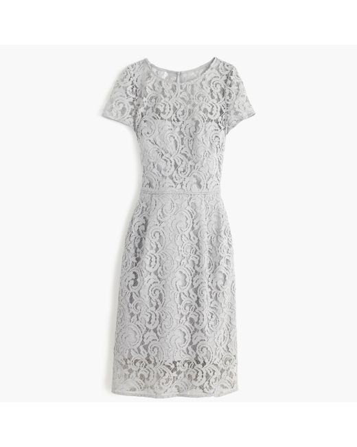 J.Crew | Gray Alisa Lace Fit-and-Flare Dress  | Lyst