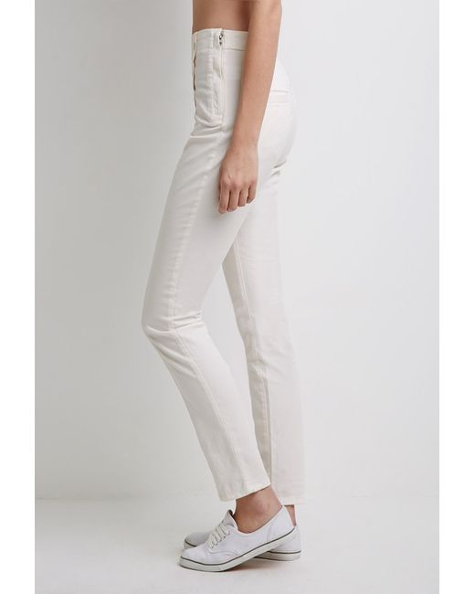 Forever 21 | Natural Skinny Sailor Trousers | Lyst