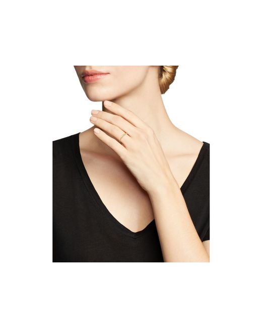 Zoe Chicco | Metallic 14k Yellow Gold And Diamond Bezel-set Ring | Lyst
