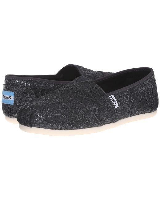 Tom S Silver Lace Glitz Womens Shoes