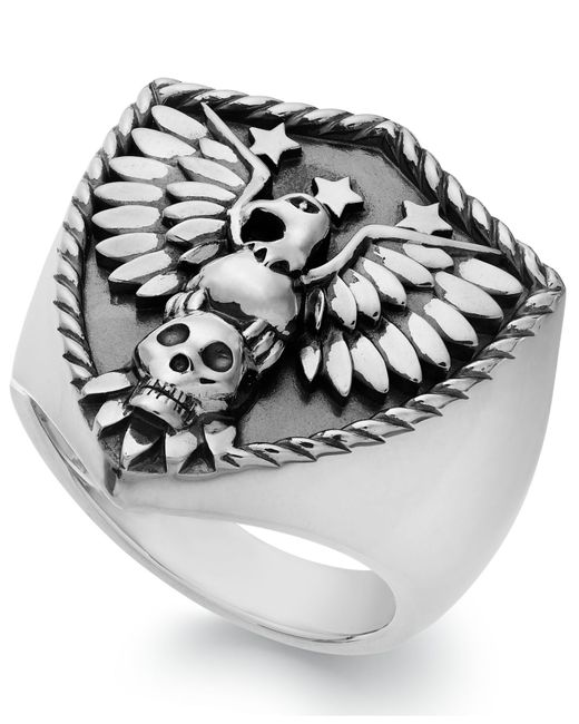 Macy's | Metallic Men's Eagle Ring In Sterling Silver for Men | Lyst
