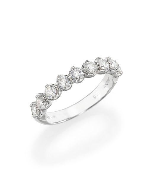 De Beers | Metallic Allegria Diamond & Platinum Half Band Ring | Lyst