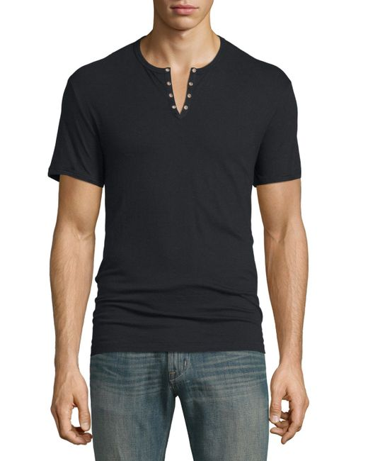 This Dickies® short sleeve heavyweight Henley tee features a chest pocket, tagless back neck label for comfort, and taped neck and shoulder seams for longer wear. % Cotton.