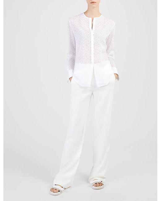 Joseph Embroidery Anglaise Peyton Blouse In White  Lyst