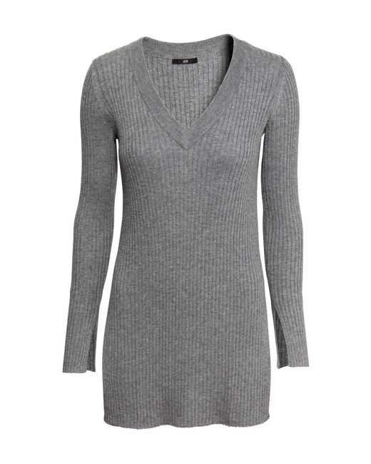 H&M | Gray V-neck Jumper | Lyst