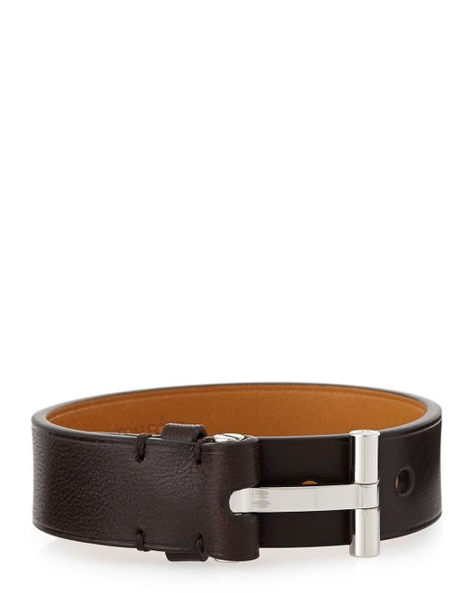 Tom Ford | Brown Leather Nashville Bracelet for Men | Lyst