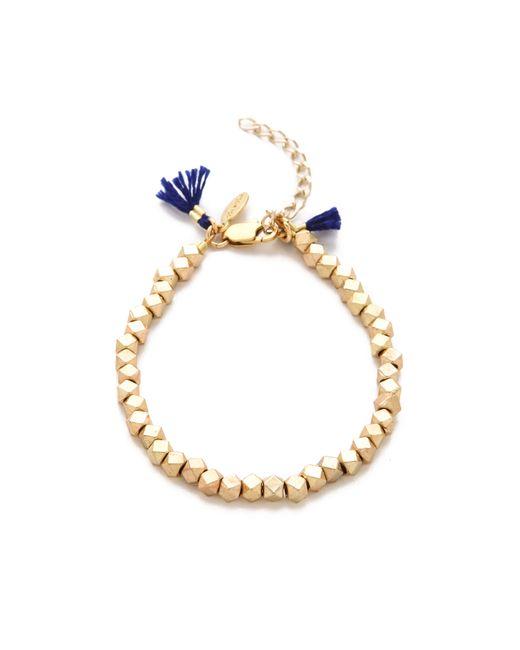 Shashi | Yellow Nugget Clasp Bracelet | Lyst